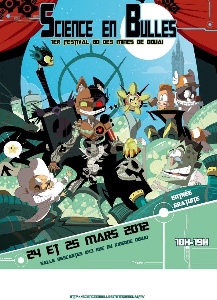 Festival Science en Bulles à Douai dans Agenda Affiche-Douai-Vecteur0-741x1024