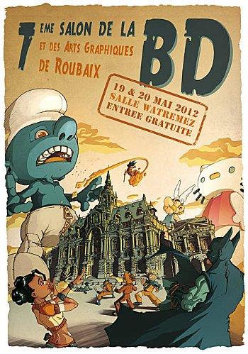 Salon de la BD de Roubaix dans Agenda BD-Roubaix-Affiche